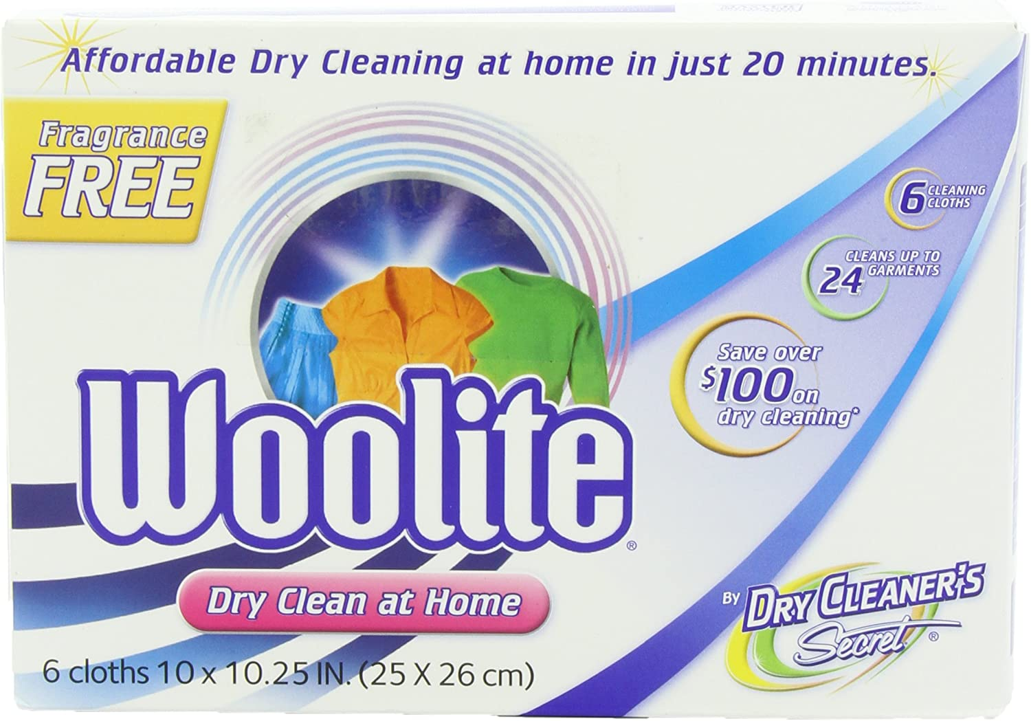 Woolite Dry Cleaner's Secret Fragrance Free Woolite Dry Cleaner's Secret, 6-Count