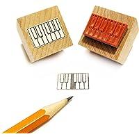 Sello de goma, diseño de teclas de piano