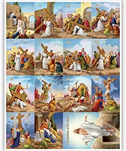 Stations of The Cross Refrigerator Magnet Set