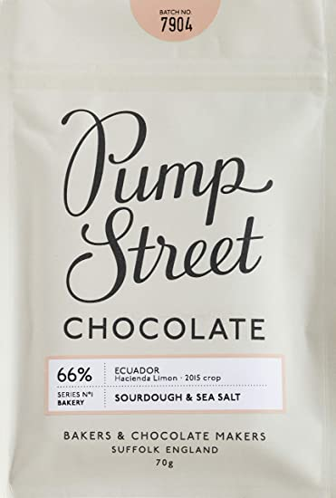 Pump Street Bakery Sourdough Sea Salt 66 Dark Chocolate Bar