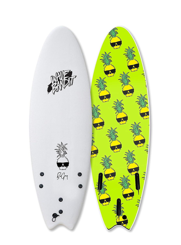 Wave Bandit Ben Gravy Pro EZ Rider Surfboard 90 White