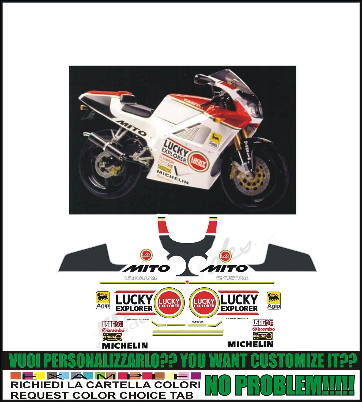possibilit/à di personalizzare i colori Kit adesivi decal stikers cagiva mito lucky explorer 1993