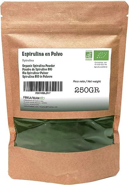 FRISAFRAN - Espirulina en Polvo Orgánica (250Gr): Amazon.es: Alimentación y bebidas