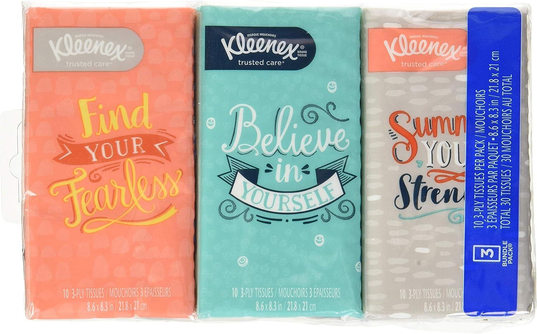 8 packs of 10 tissues Kleenex/® 3-Ply Pocket Packs Facial Tissues