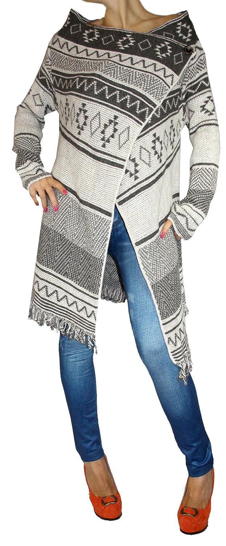 XL L M Poncho Chaqueta Abrigo Poncho//capa para mujer en punto cl/ásico patr/ón de cuadros S