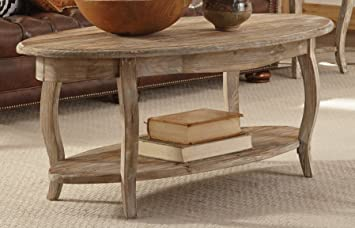 Awesome Alaterre Rustic Reclaimed Oval Coffee Table Driftwood Brown With Rustic  Coffee Table.