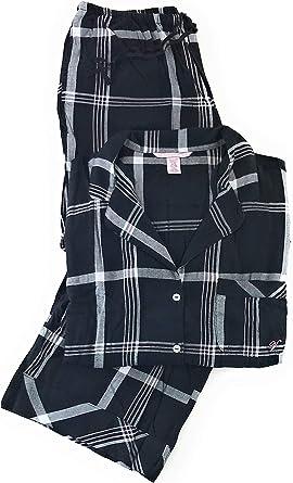 Amazon Com Victoria S Secret Pijama De Franela De Algodon Ligero Para Mujer Clothing