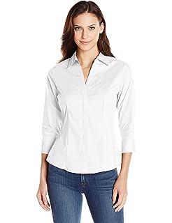 Foxcroft Women s Non-Iron Essential Paige Shirt at Amazon Women s ... 7c9524e418