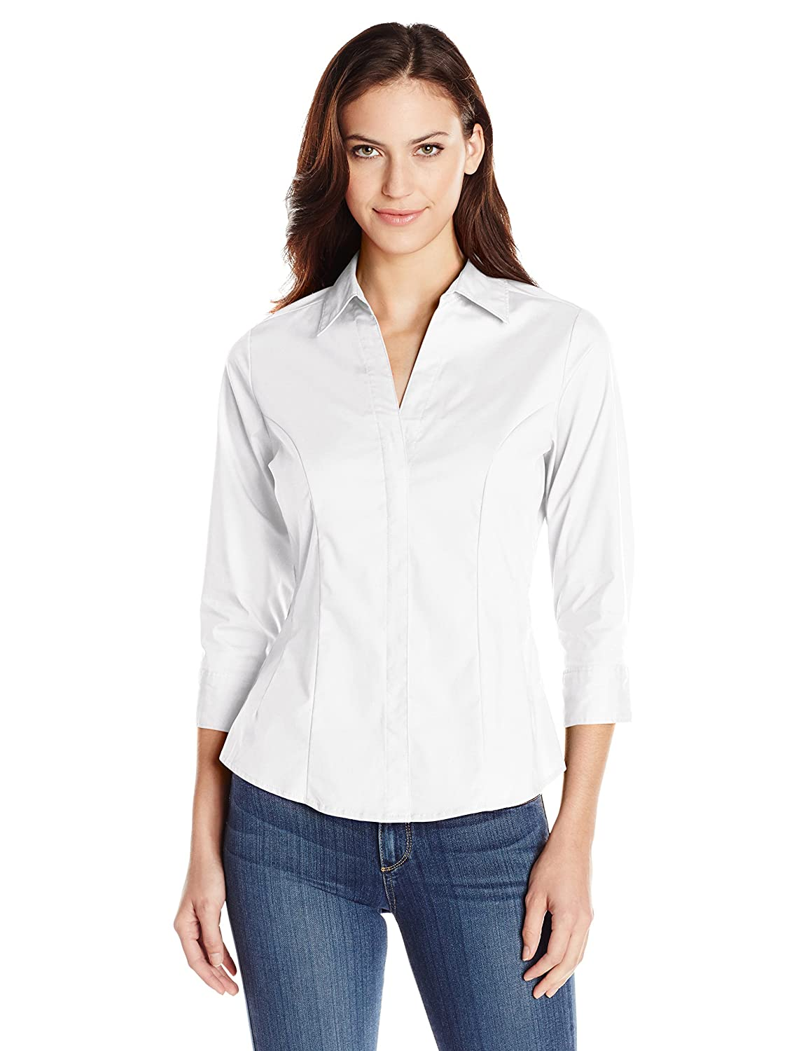 Riders by Lee Indigo Women's Bella Easy Care Woven Shirt at Amazon ...