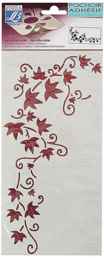 Lefranc Bourgeois decorativo - Stencil adesive 15 x 30 cm, motivo ...