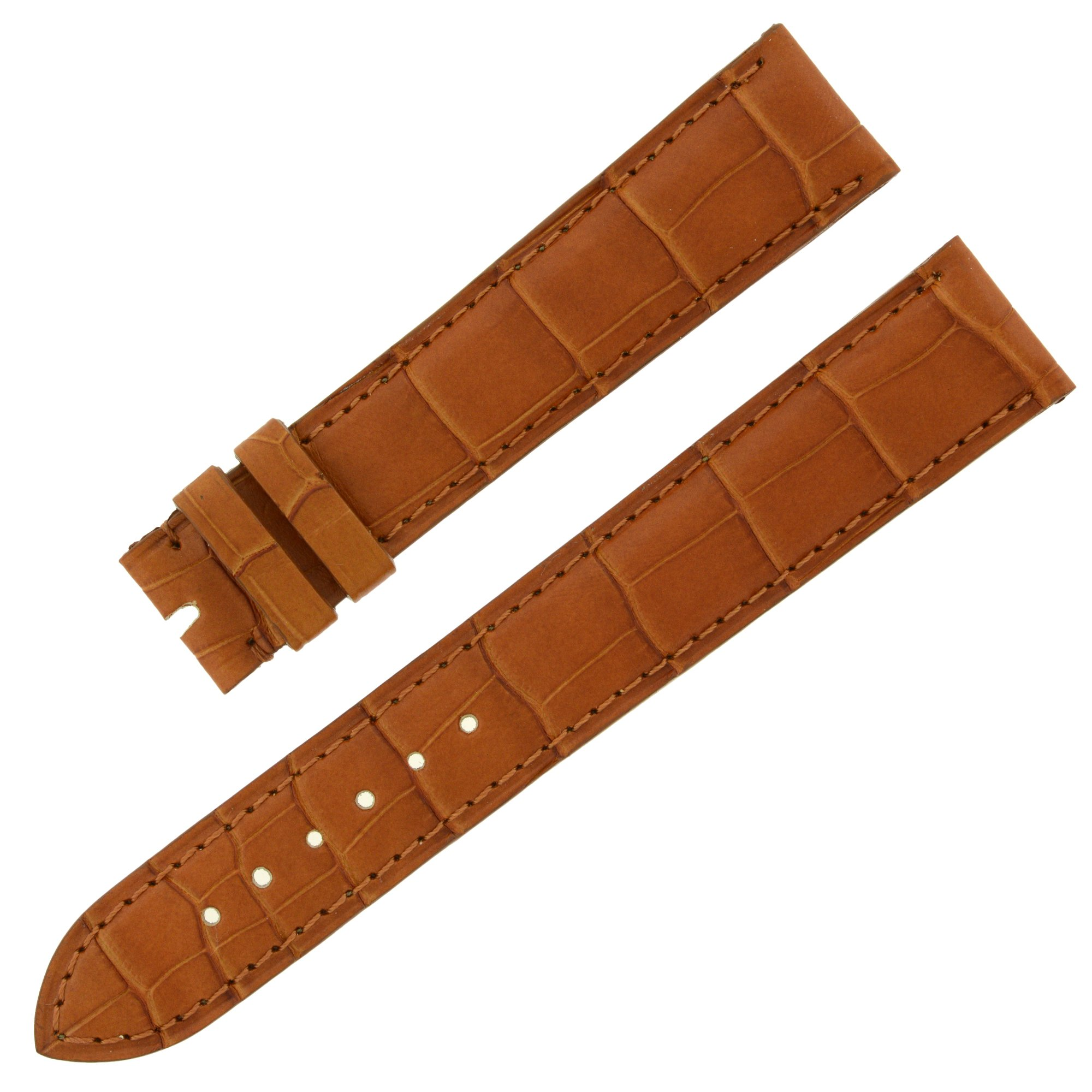 Chopard 18-16 mm Saddle Genuine Alligator Leather Women's Watch Band