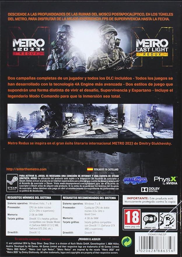 Metro: Redux: Amazon.es: Videojuegos