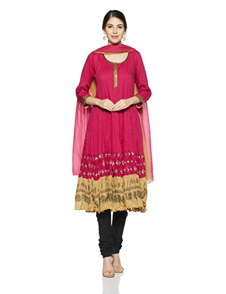 BIBA Women's Anarkali Salwar Suit Women's Salwar Suits at amazon