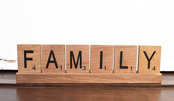 Large Scrabble Tiles, Scrabble Wall Art, Family Sign