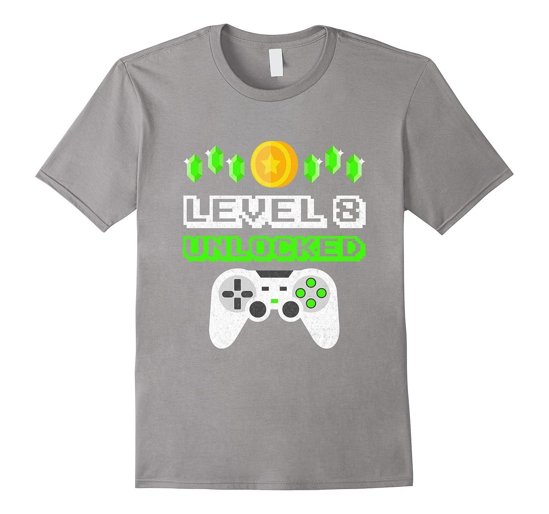 Level 8 Unlocked Funny Year Old Gamer Birthday T Shirt Ah My