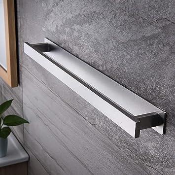 Selbstklebend Handtuchhalter Stange Ohne Bohren Bad Handtuchstange Silber Farbe