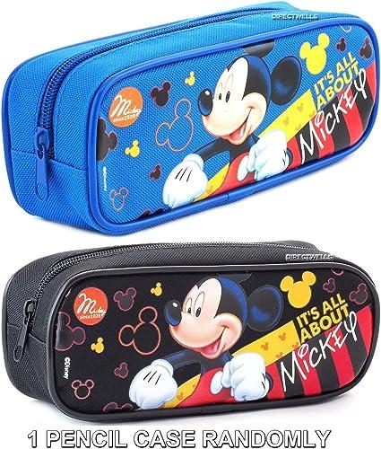 Estuche – Mickey Mouse – es todo sobre Mickey Azul o Negro (2 unidades), colores variados 544579-ast: Amazon.es: Oficina y papelería