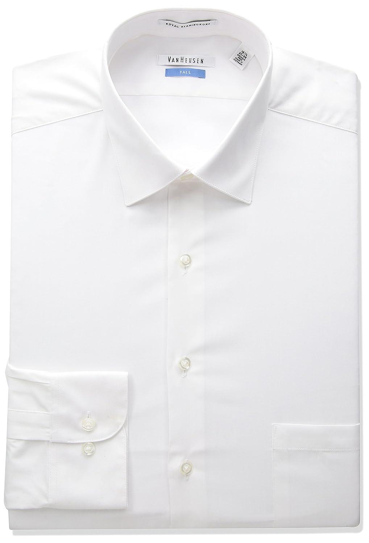 Van Heusen Mens Big-Tall Herringbone Tall Fit Solid Spread Collar Dress Shirt 20F9253