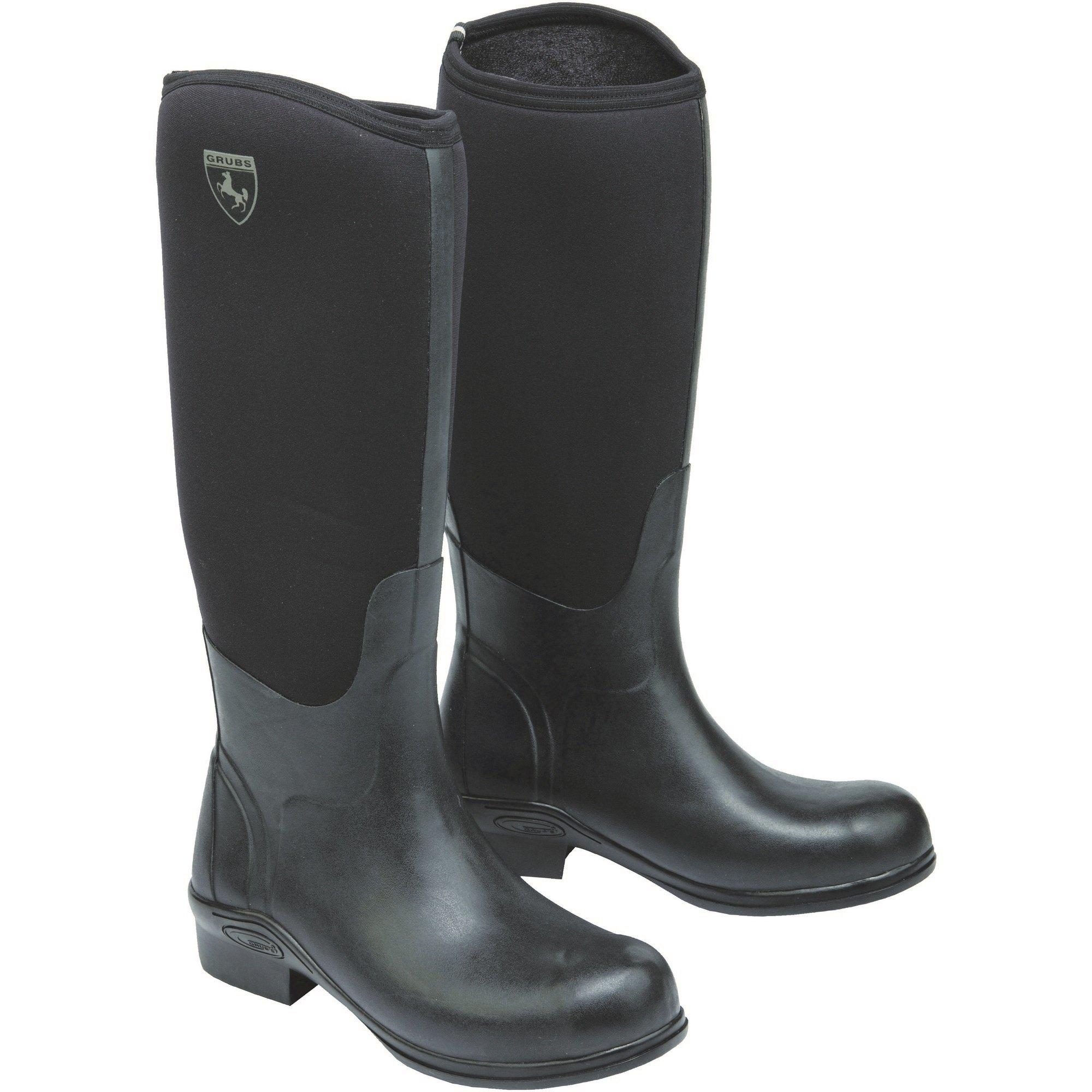 Grubs Womens/Ladies Rideline Riding Boots (6 US) (Black)