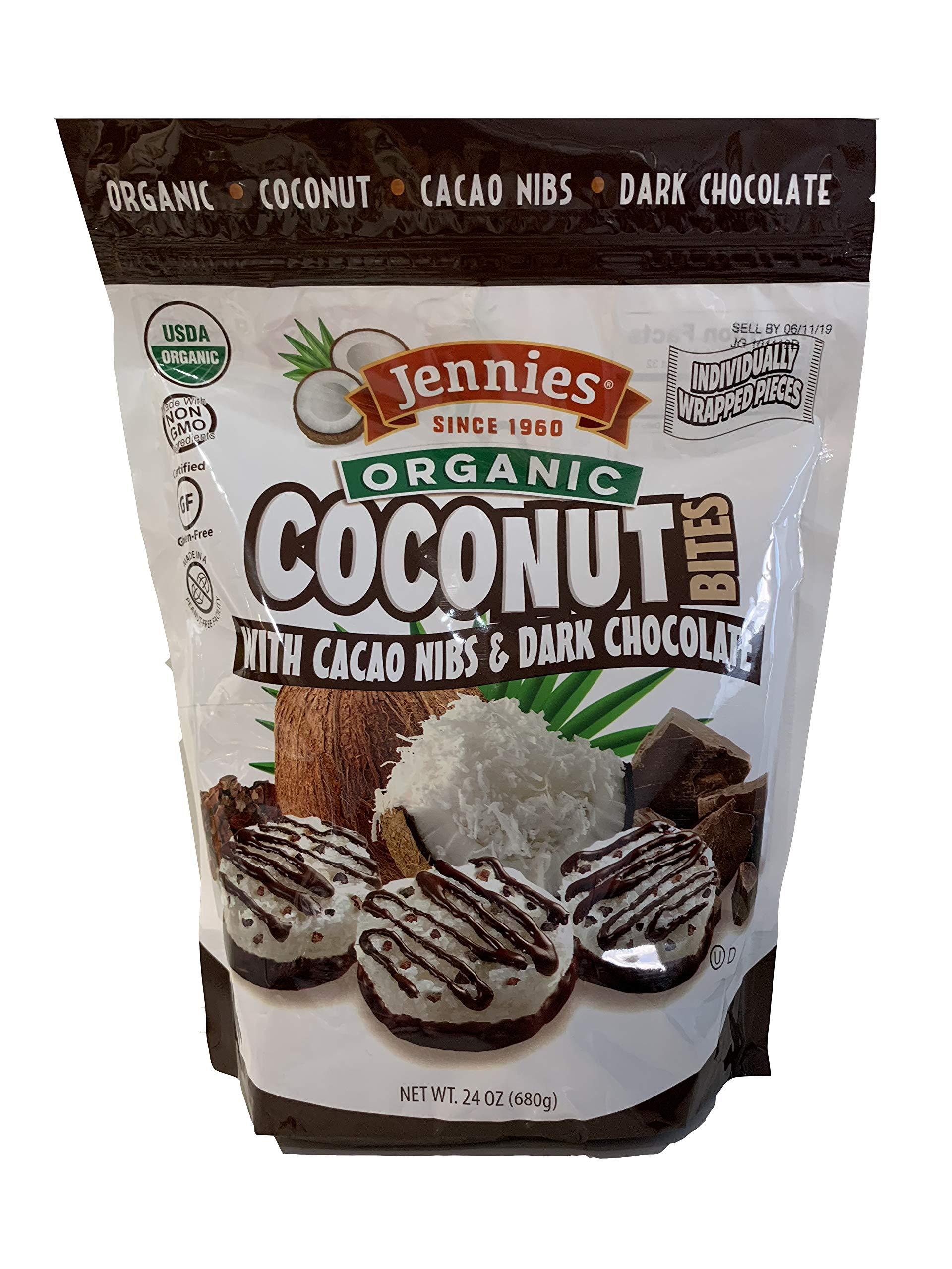 Jennies Organic Coconut Bites, Gluten Free, Peanut Free, Non GMO
