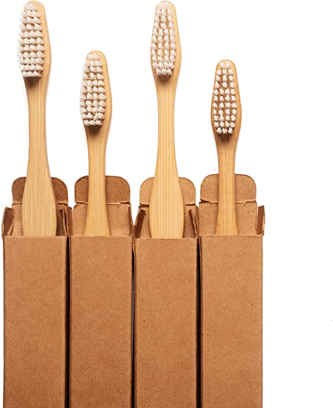 Panda Bambu S Premium Quality Bamboo Toothbrush Natural Soft Plant Based Bristles Ergonomic Moso Bamboo Handle 100 Sustainable Packaging Toothbrush For Adults And Teenagers Pack Of 4 Health Personal Care Amazon Com