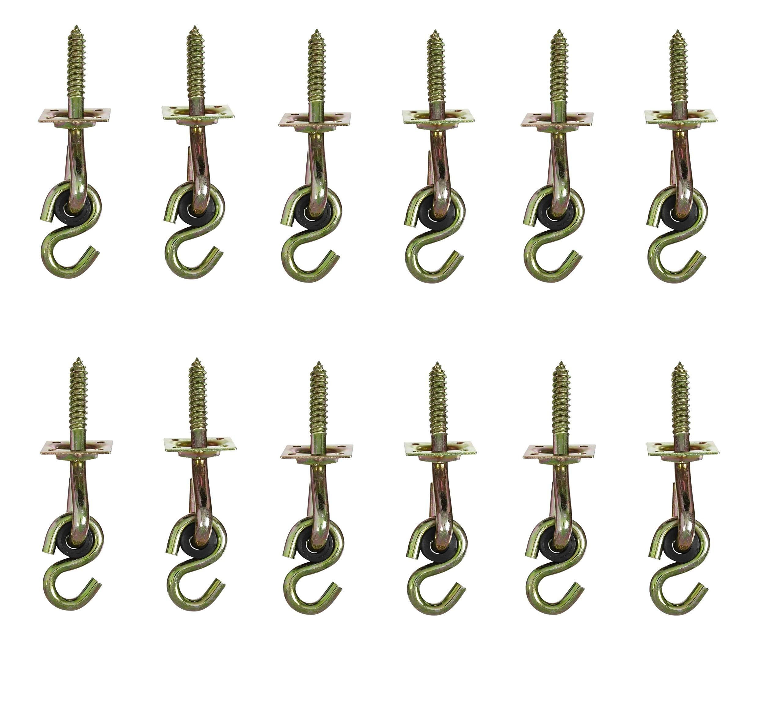 National Hardware N264-069 V2038 Swing Hook Kits in Yellow Chromate, 2 Hooks per Pack, Sold as 6 Pack, 12 Hooks Total