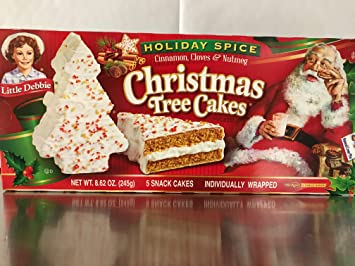 Amazon Com Little Debbie Holiday Spice Christmas Tree Cakes