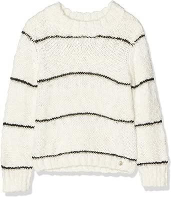 IKKS Junior Pull Mariniere Bande Lurex Noire suéter para Niñas