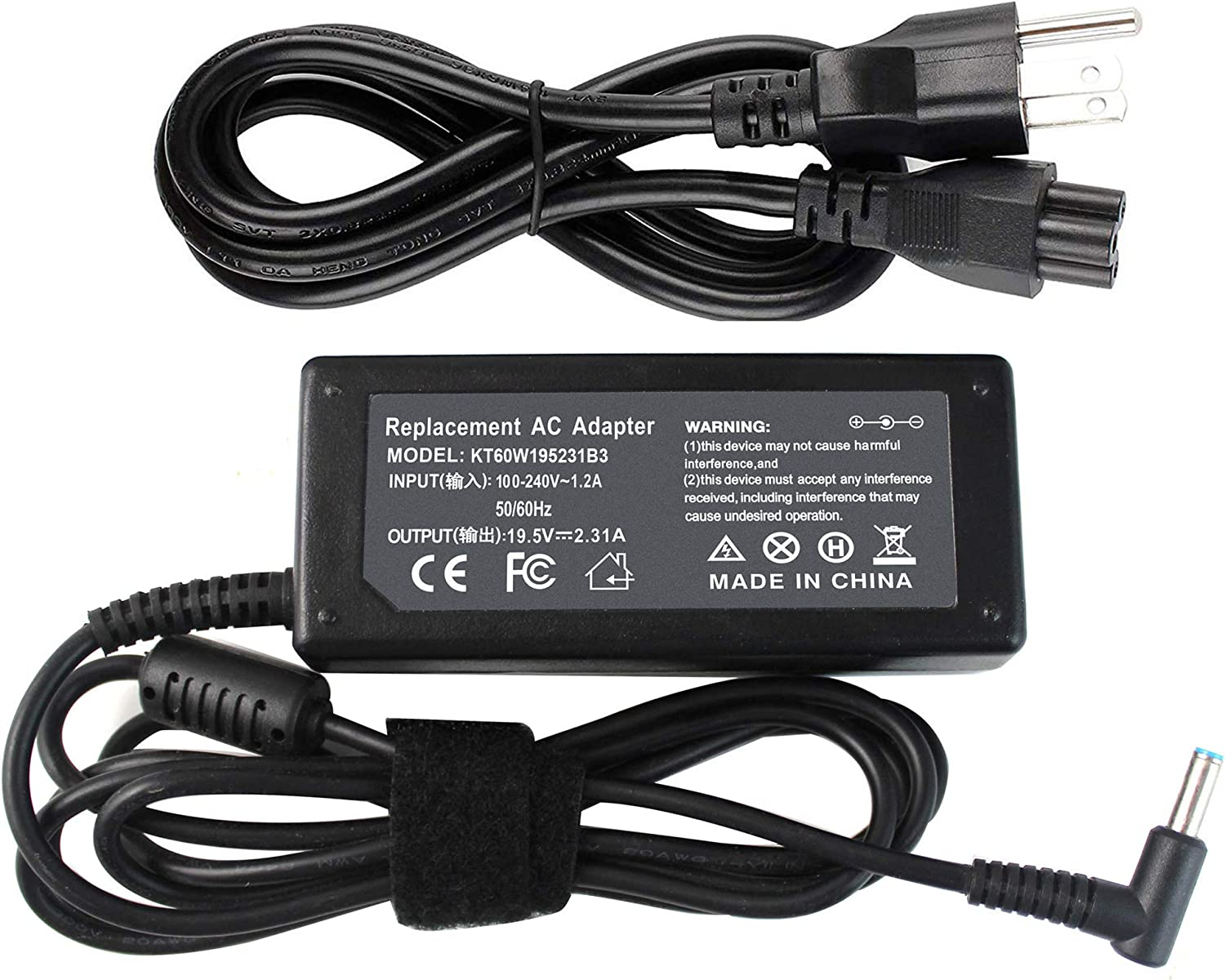 Shareway 45W Replacment Laptop Charger for HP Envy 15-u010dx ADP-45WD B HSTNN-CA40 741727-001 740015-001 740015-002 740015-003 719309-001 F9H92UA [4.5mm3.0mm]