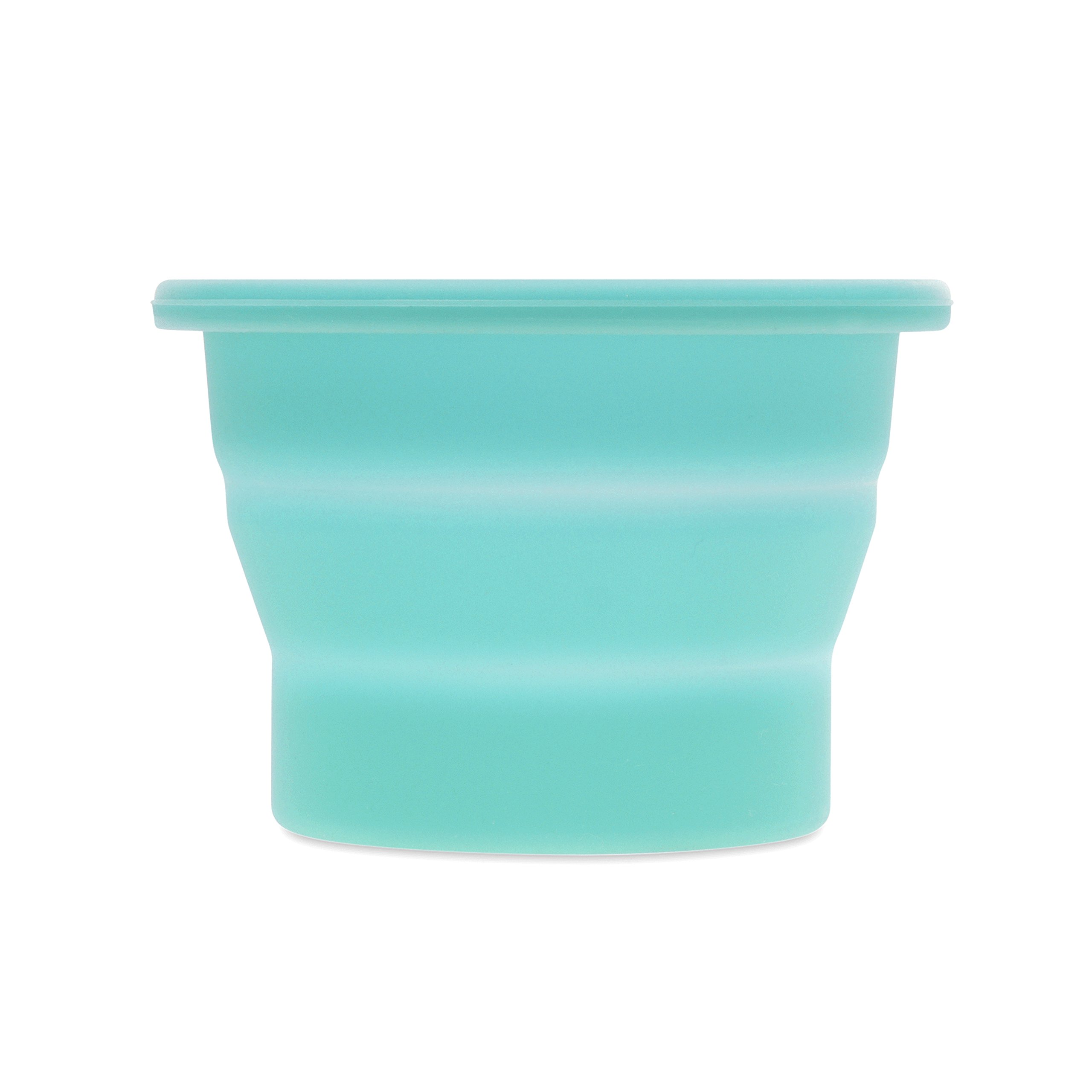 Anigan Collapsible Silicone Sterilizing Cup Designed for Sanitation and Storing Menstrual Cups, Blizzard Blue