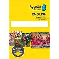Learn English: Rosetta Stone - United Kingdom Levels 1-5 [Mac Key Card Download]