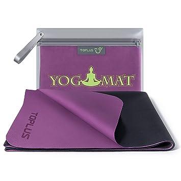 TOPLUS Esterilla de Yoga de Viaje, 1/16 Pulgadas, Fina y ...