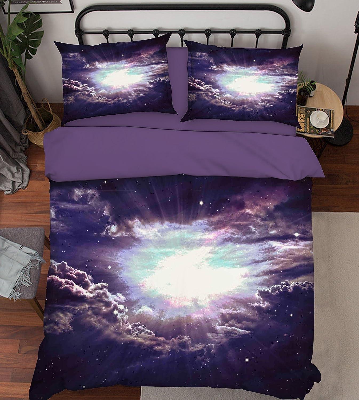 3D ブラックホールの日差し 3217 寝具枕カバーキルト羽毛布団カバーセットシングルクイーンキング  3D写真の寝具 Summer (クイーン) B07C43V8RJクイーン