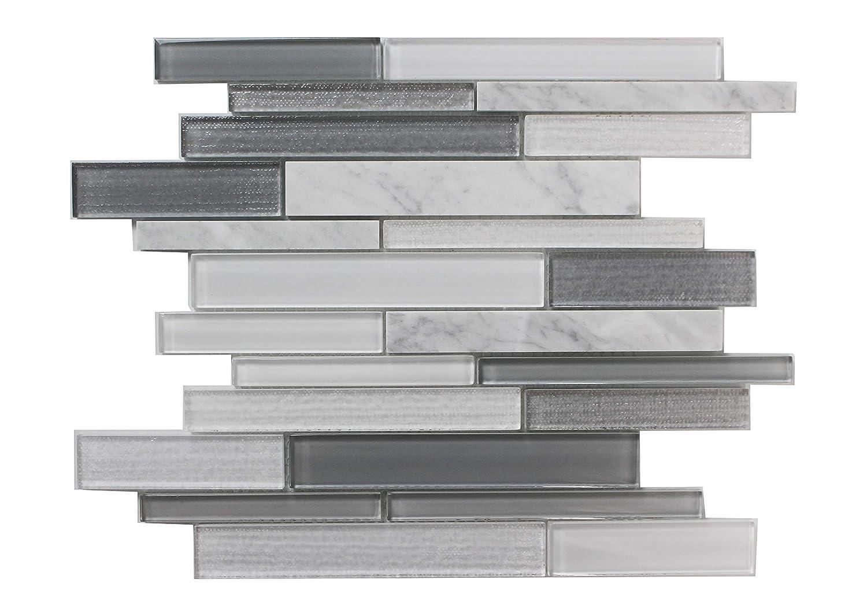 12x12 Inch-5Pcs per Case,5SQF Natural Gray Marble Wood Grain Marble Floor Marble Square Tile Stone Thin Marble Natural Marble Polishing Stone Marble Flooring 12x12 Tile Flooring