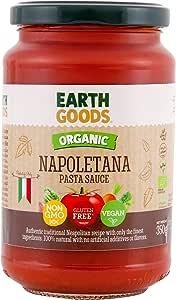 Earth Goods - Organic Napoletana Pasta Sauce All Vegan NON GMO , Gluten free Handpicked Natural No Artificial Additives or Flavors - 350 G