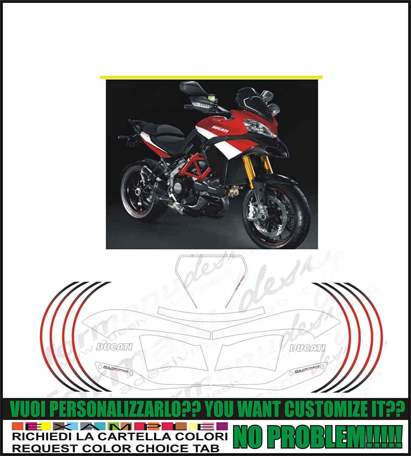 Kit adesivi decal stikers DUCATI MULTISTRADA 1200 S PIKES PEAK (ability to customize the colors) Emanuel & Co