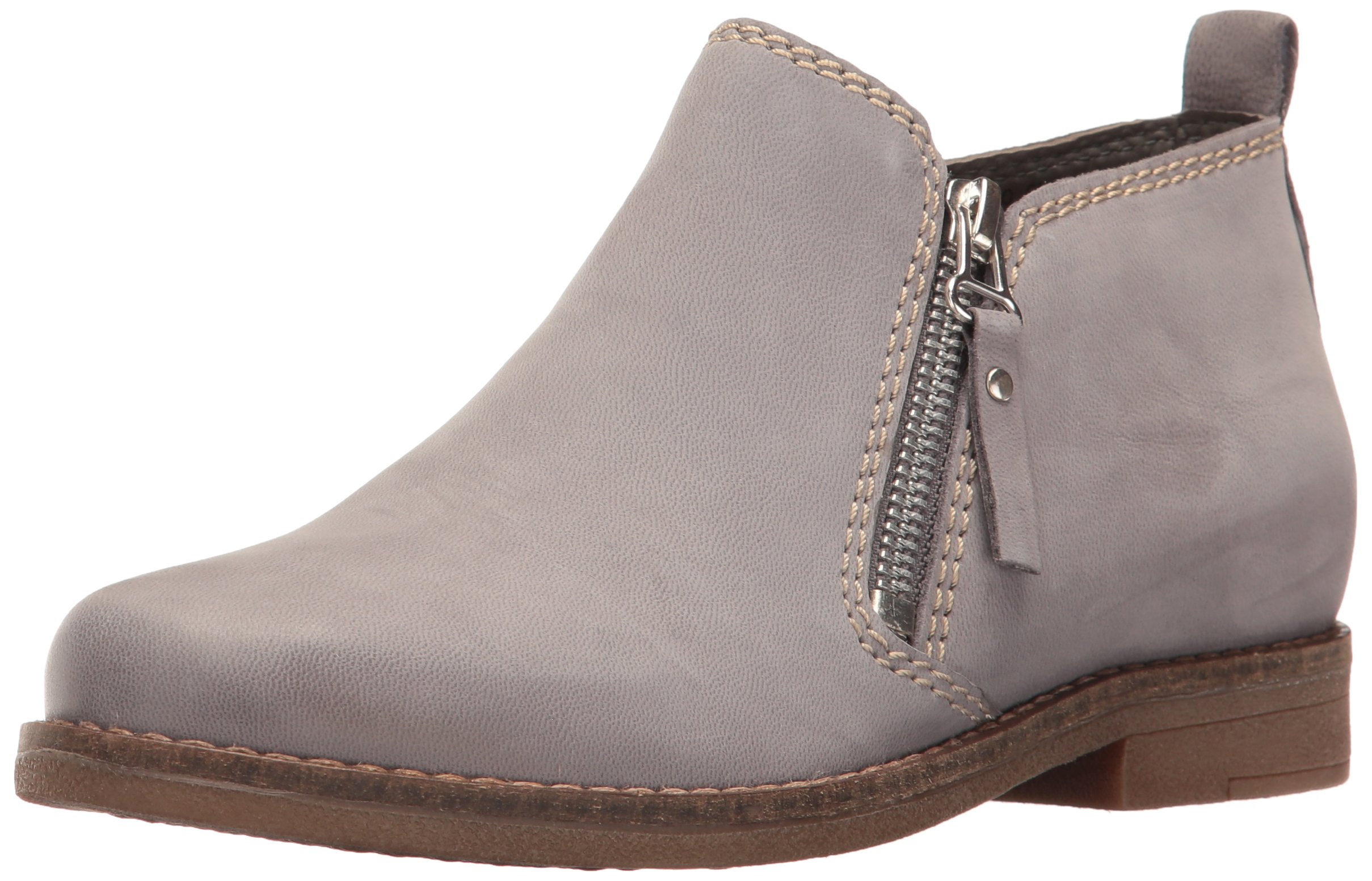 Hush Puppies Women's Mazin Cayto Flat, Frost Gray Nubuck, 11 W US by Hush Puppies