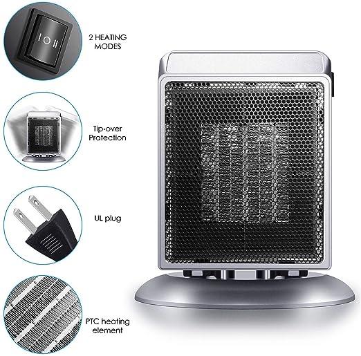 Amazon.com: Space Heater, Bermunavy Indoor Personal Heater ...