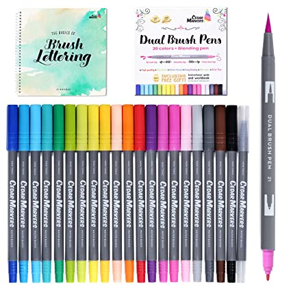 Amazon.com: Dual Brush Pens. 21 Calligraphy Pen Set with Best Hand ...