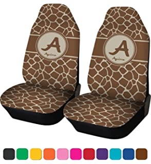 RNK Shops Giraffe Print Car Seat Covers Set Of Two Personalized