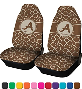 Amazon.com: Giraffe Print Car Seat Covers (Set of Two) (Personalized ...