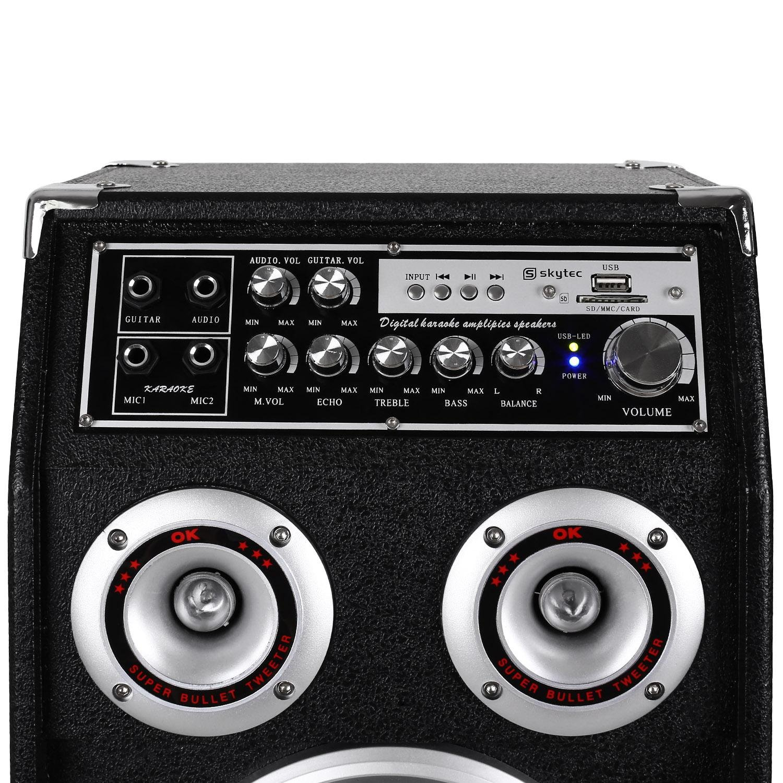 Skytec SPSW-06 Set de altavoces PA USB-SD-MP3 400W: Amazon.es: Instrumentos musicales