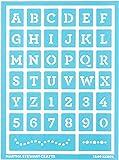 """Plaid:Craft Martha Stewart Adhesive Stencils 2Pkg-Typewriter 5.75""""X7.75"""""""