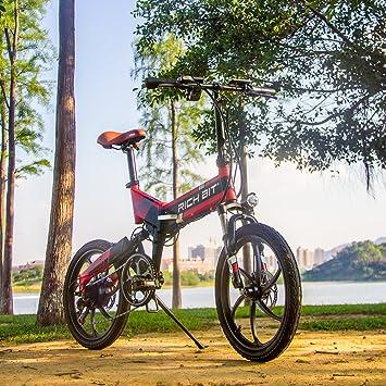 RICH BIT Bicicleta Plegable eléctrica FS-730 con 48V 250W Motor batería de Litio-