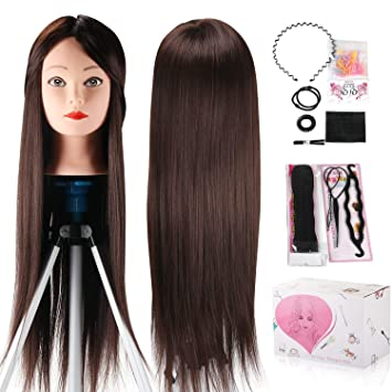 Amazon Com Mannequin Head Beauty Star 24 Inch Chestnut Color Long