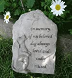 My Beloved Dog and Butterfly Memorial Plaque