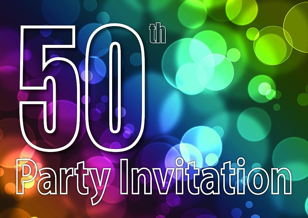 50 años Reversible Invitaciones de la fiesta de cumpleaños ...