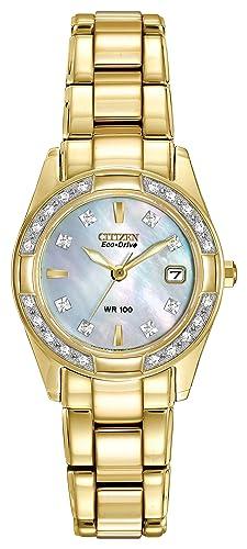 Image Unavailable. Image not available for. Colour  CITIZEN ECO-DRIVE  Women s EW1822-52D Regent Gold Tone Diamond Watch f46b4c89d5