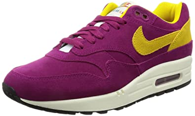 the best attitude 543ec 8f576 Nike AIR MAX 1 Premium Mens Running-Shoes 875844-500 10. 5 - Dynamic Berry Vivid  Sulfur-Black-SAIL  Buy Online at Low Prices in India - Amazon.in