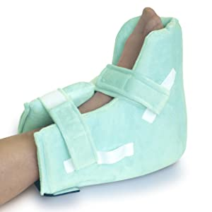 NYOrtho Boot Heel Protector Cushion - Pressure Relieving Pillow Boot with Suspension Boot Antimicrobial Fabric  Zero-G Boot™ | Free Removable Heating/Cooling Gel Pack Included | Petite